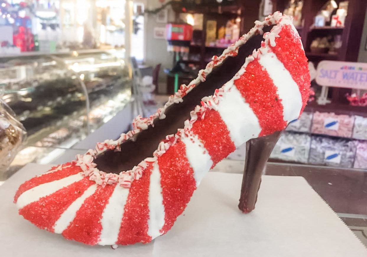 chocolate christmas heels