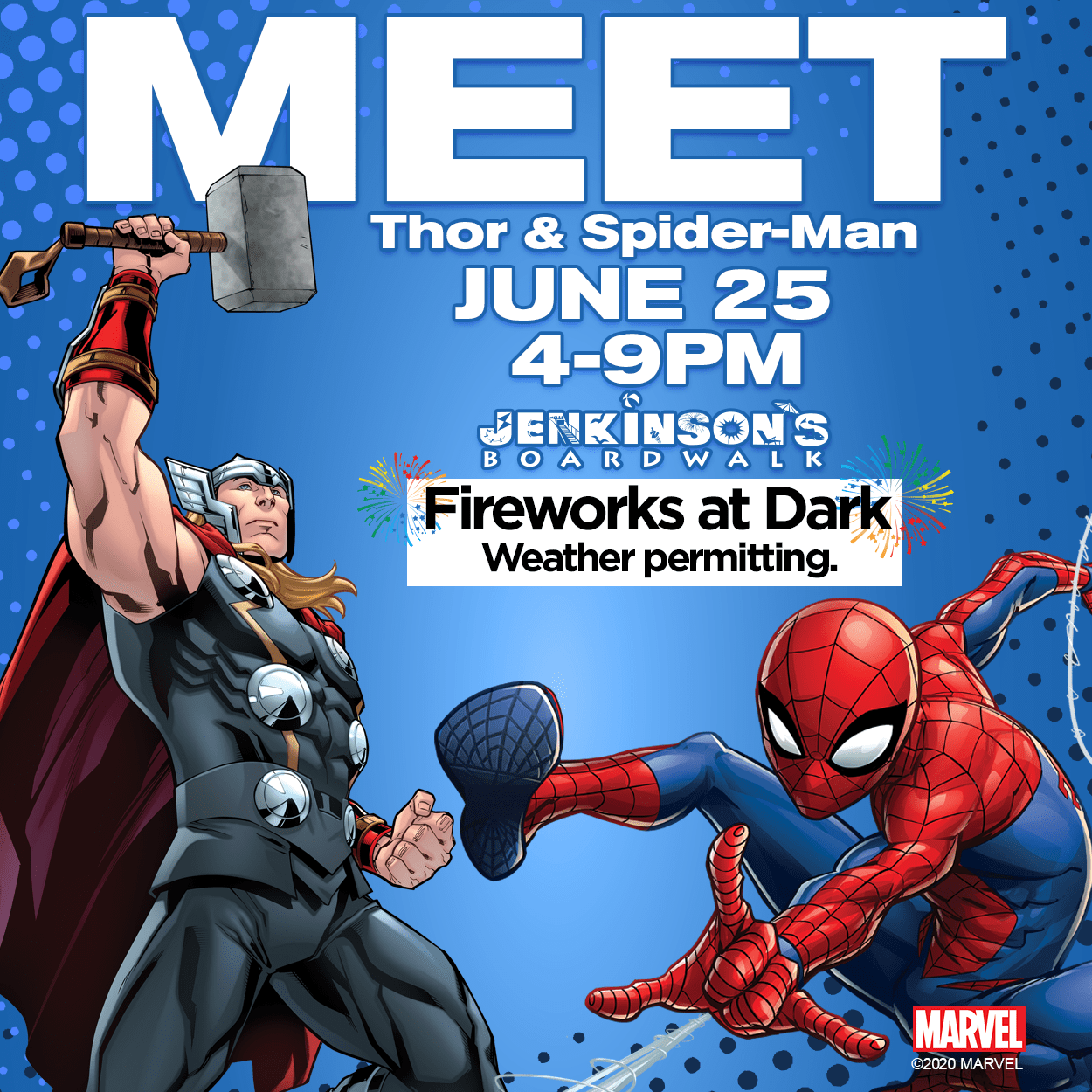 Jenkinson's Marvel Meet & Greet with Spider-man & Thor