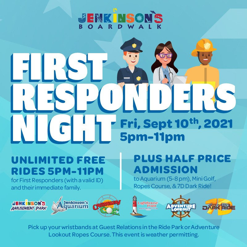 first responders night at jenkinson's